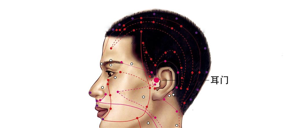 耳门穴位置图